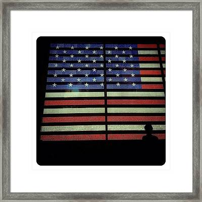 American Lights Framed Print