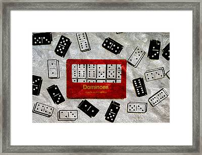 American Passtime Dominoes Framed Print by Angelina Vick