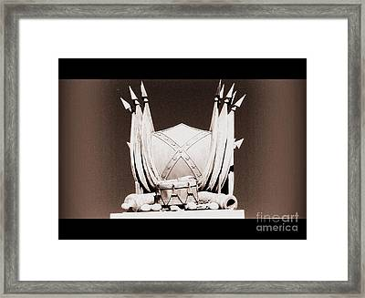 Framed Print featuring the photograph American President And Leader Of The Confederacy by Nancy Dole McGuigan