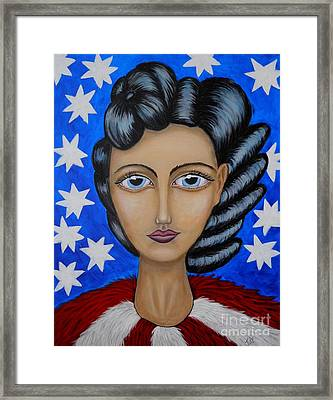 American Soul  Framed Print by Claudia Tuli