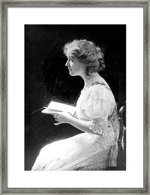 American Stage Actress And Director Framed Print by Everett