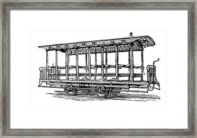 American: Streetcar, 1880s Framed Print by Granger