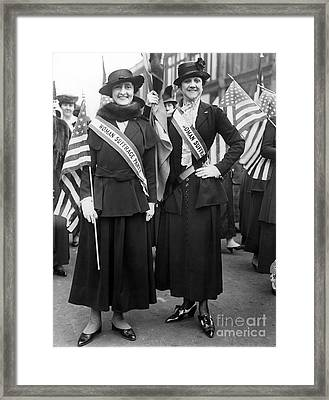 American Suffragists Framed Print