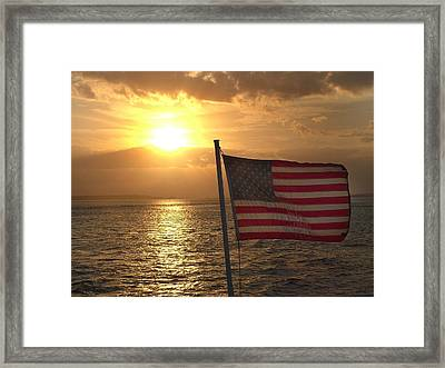 American Sunset Framed Print by Lillie Wilde