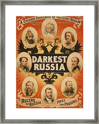 American Theatrical Poster Framed Print by Everett