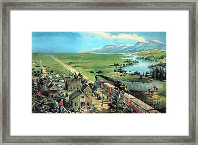 American Transcontinental Railroad Framed Print by Photo Researchers