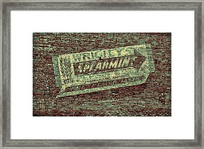 Americana Gum On Brick Framed Print by Tony Grider
