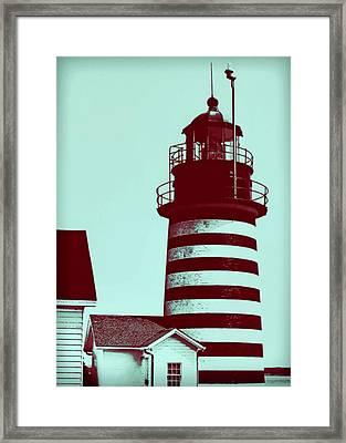 Americana Lighthouse Framed Print