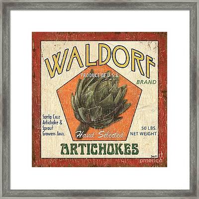 Americana Veggies Framed Print