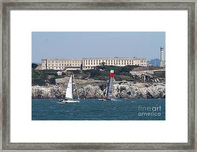 America's Cup In San Francisco - China Firefall - 7d18334 Framed Print by Wingsdomain Art and Photography