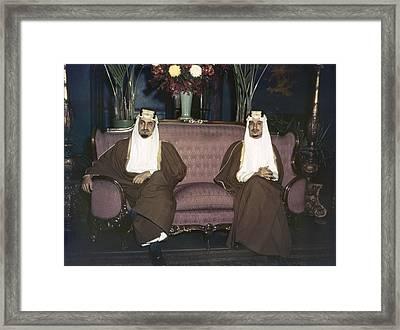 Amir Khalid Right And Amir Faisal Sons Framed Print