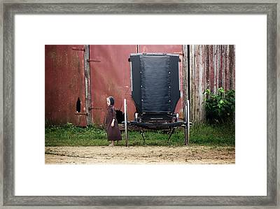 Amish Child Framed Print by Steven  Michael