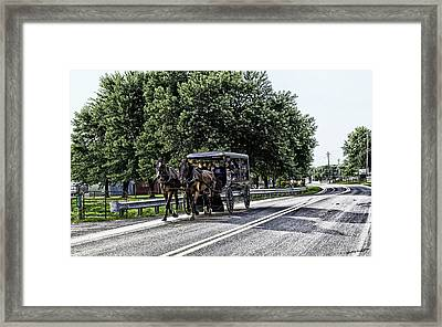 Amish Country - Intercourse Pennsylvania Framed Print by Madeline Ellis