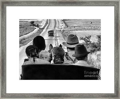 Amish Family Outing II Framed Print by Julie Dant