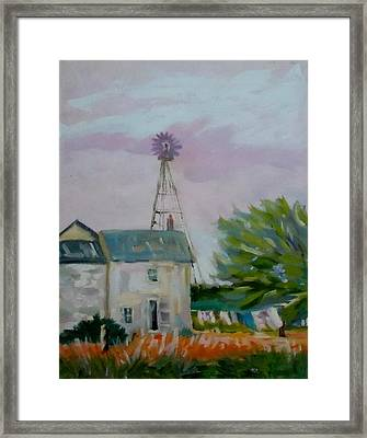 Amish Farmhouse Framed Print by Francine Frank