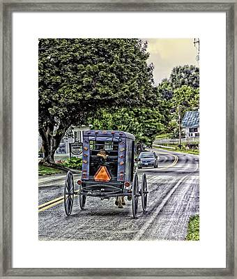 Amish Girl Framed Print by Madeline Ellis