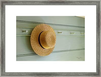 Amish Hat Framed Print