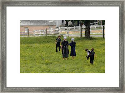 Framed Print featuring the photograph Amish Life by Raymond Earley