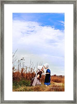 Amish Mother And Child Framed Print by Stephanie Frey