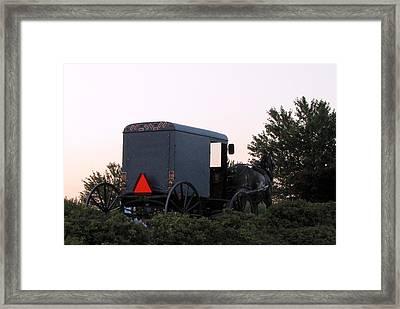 Amish Parking Framed Print