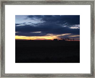 Amish Sunrise Framed Print by Joshua House