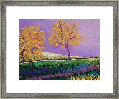 Amish Trees Framed Print by Karin Eisermann