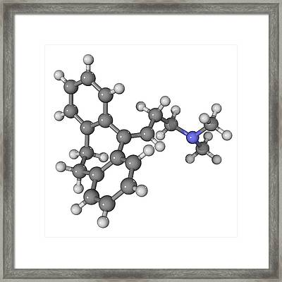 Amitriptyline Antidepressant Molecule Framed Print by Laguna Design