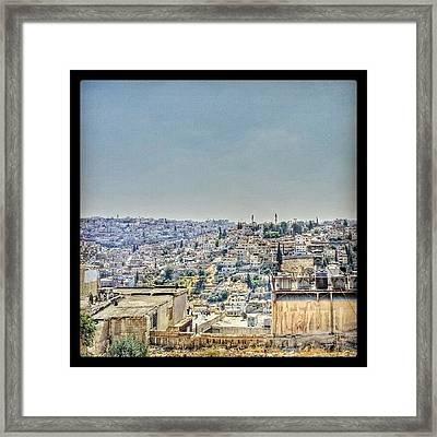 Amman Down Town, #downtown #city Framed Print