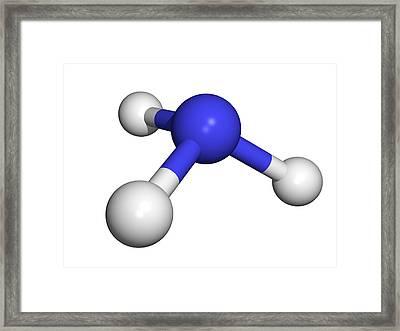 Ammonia Molecule Framed Print by Dr Tim Evans