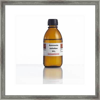 Ammonia Solution, Laboratory Bottle Framed Print by