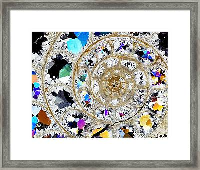 Ammonite Fossil, Thin Section Framed Print