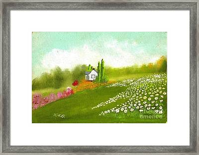 Among Daisies Framed Print