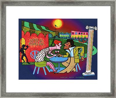 Amore In The Piazza Framed Print by Dean Gleisberg
