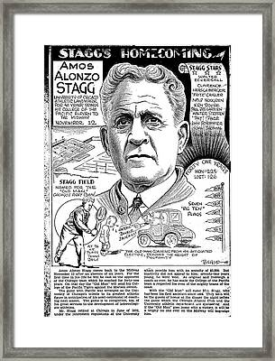 Amos Alonzo Stagg Framed Print by Steve Bishop