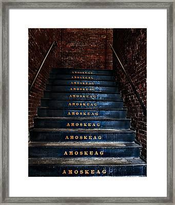 Amoskeag Framed Print by John Sotiriou