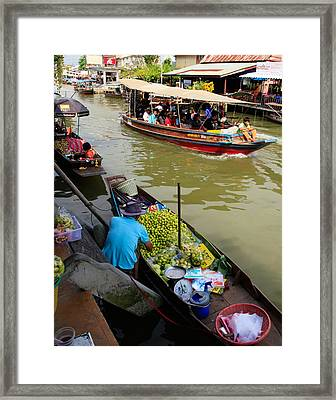 Ampawa Floating Market Framed Print by Adrian Evans
