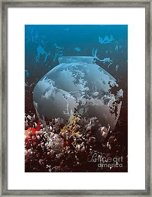 Framed Print featuring the digital art Amphora by Leo Symon
