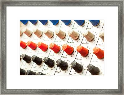 Amplifier Dials Framed Print by Tom Gowanlock