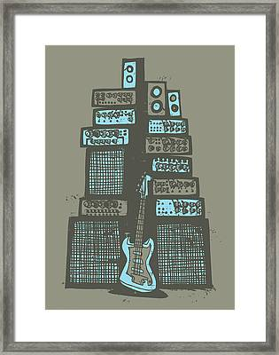 Ampliphones Framed Print by A Hornsby
