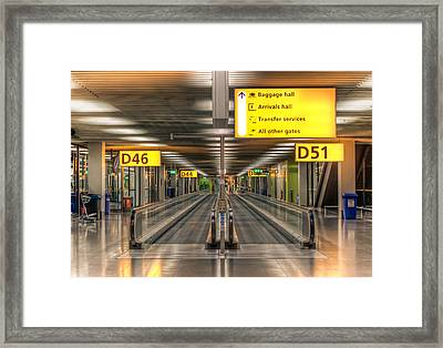Framed Print featuring the photograph Amsterdam Airport by Anna Rumiantseva