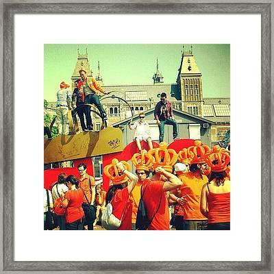 Amsterdam At Koninginnedag Framed Print