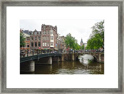 Amsterdam Bridge - 02 Framed Print by Gregory Dyer