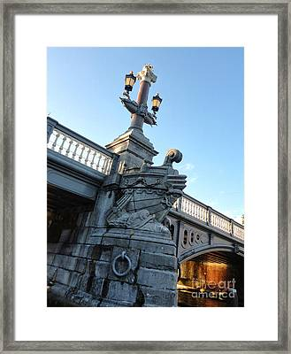 Amsterdam Bridge Detail Framed Print by Gregory Dyer