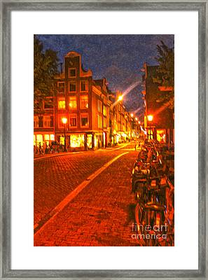 Amsterdam By Night - 02 Framed Print by Gregory Dyer