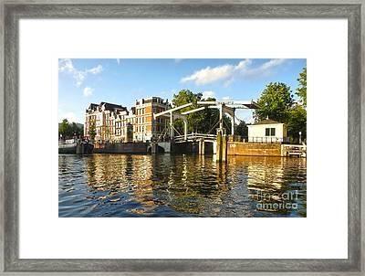 Amsterdam Canal Drawbridge - 03 Framed Print by Gregory Dyer