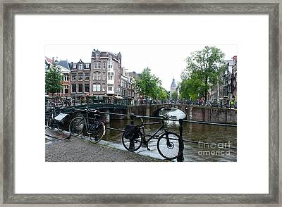 Amsterdam Canal View - 04 Framed Print by Gregory Dyer