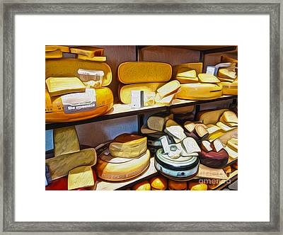 Amsterdam Cheese Shop Framed Print by Gregory Dyer