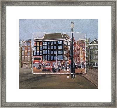 Amsterdam Corner Layered Framed Print
