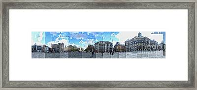 Amsterdam - Dam Square - 01 Framed Print by Gregory Dyer