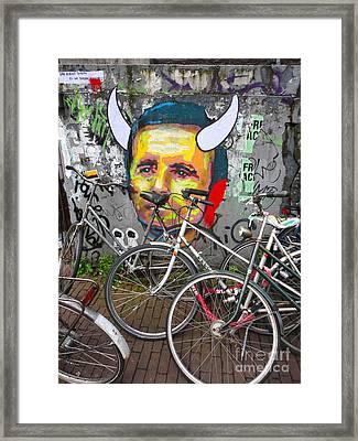 Amsterdam Devil Graffiti Framed Print by Gregory Dyer